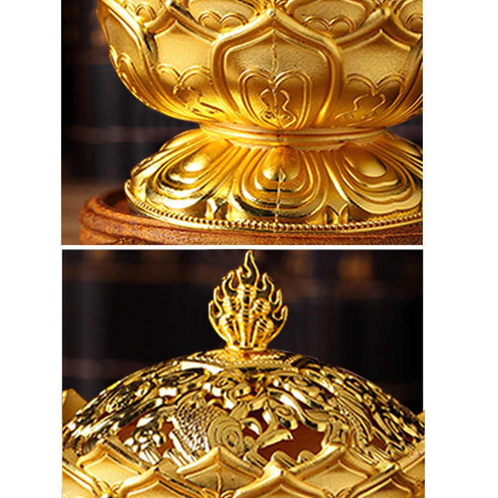 Behogar цинковый сплав в форме лотоса компрессионное коаксиальное держатель кадильница аромат, необходимый для украшения дома