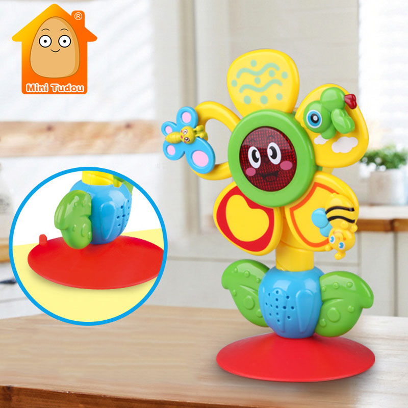 Multi-touch Rotating Ferris Wheel Table Tricolor Suckers Toy 0-12 Months Newborns Early Creative Educational Baby Rattle Toys