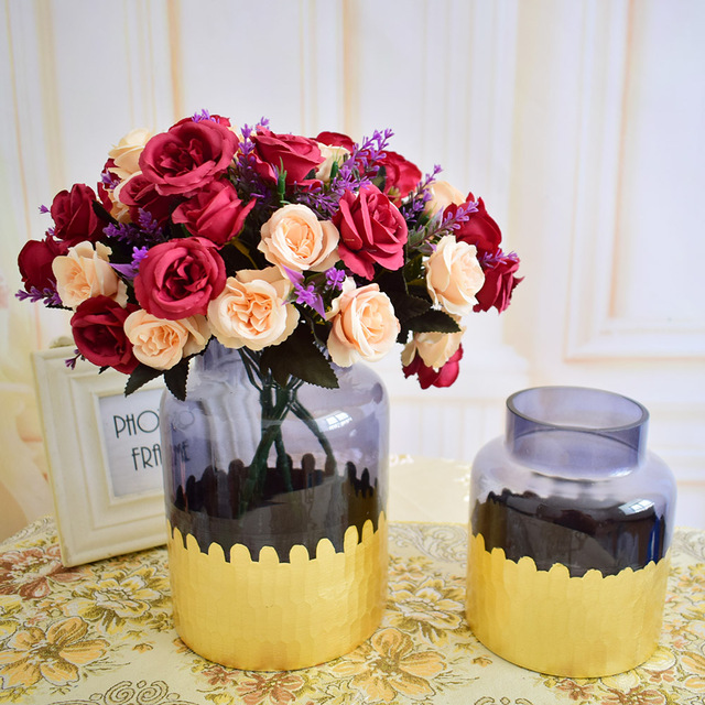 Modern Transparent Glass Vase For Flower Arrangements Wedding