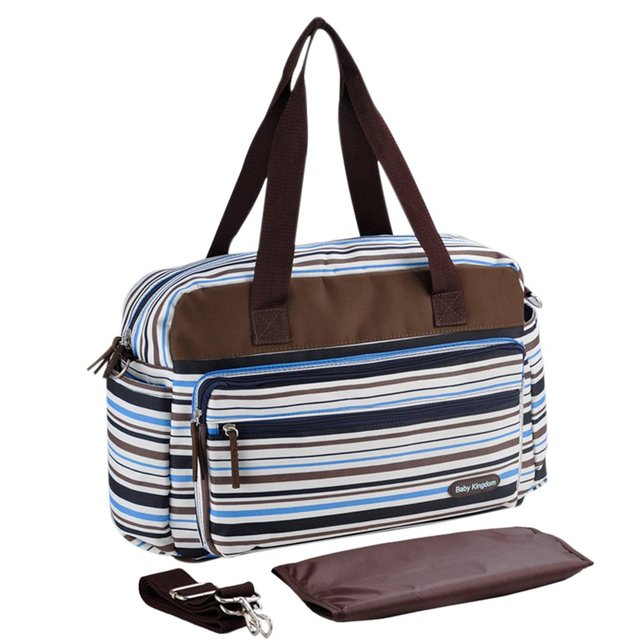 INSULAR Baby Diaper Bag Colorful Strip Mommy Bags