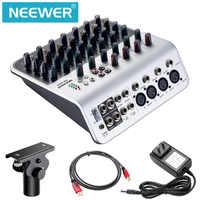 Neewer table de mixage stéréo compacte Mini Console de mixage 4 canaux 2 voies entrée ligne stéréo entrée RCA sortie 4 bandes pour micro d'ordinateur