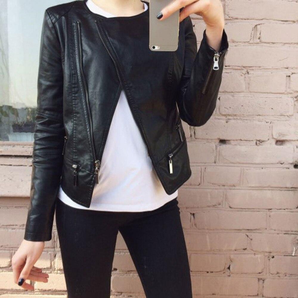 Nouvelle Glissière Pu 2019 Cuir Hiver En Motard Noir Femmes Chaude De Fermetures Mode Faux Pimkie Blazer Vêtement À Automne Doux Vestes Manteau CxwaqSYP