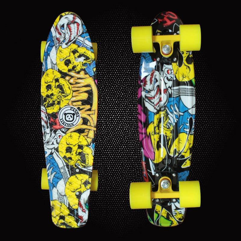 2019 High Quality Retro Skateboard Starry Sky Pattern Mini Board For Outdoor Sport Street Fish Board Longboard Skateboard PN08