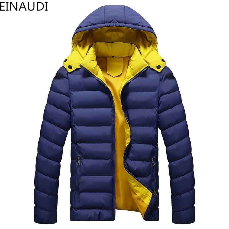 EINAUDI 2017 new Men's Clothing Coats&Jackets Down & Parkas winter thickening male with a hood wadded warm jacket thermal coat