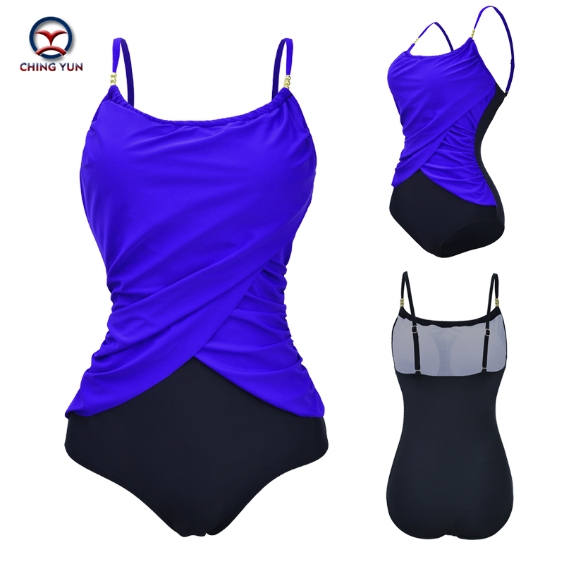2019 Newest One Piece Swimsuit Women Bathing Suits Vintage Summer Beach Wear Swim Plus Size Swimwear Bodysuit Monokini 5XL in Body Suits from Sports Entertainment