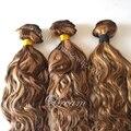 Melhor venda virgem extensões de cabelo humano destaque cor blone cabelo humano agrupa 10-26 polegada frete grátis.
