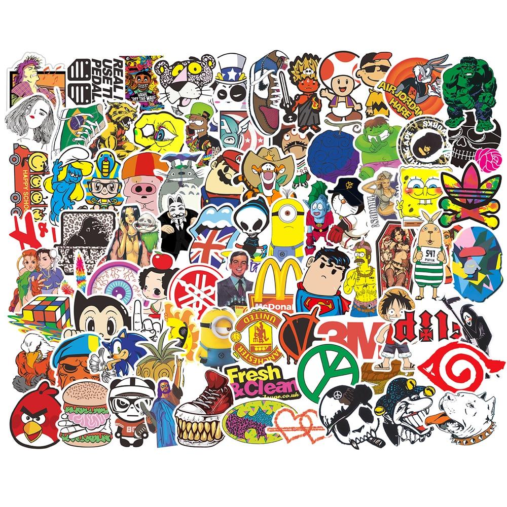 300 Hot Random Mixed stickers on laptop fridge Motorcycle Car sticker Fashion
