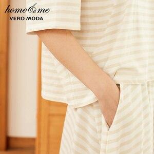 Image 4 - Vero Moda Womens 100% Cotton Loose Fit Striped Nightwear Suit Pajamas Sets