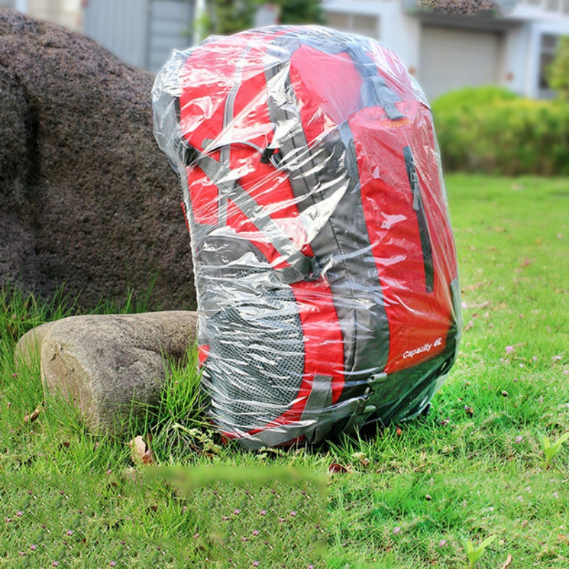 Outdoor Disposable Backpack Cover Large Bike Bag Raincover Rucksack Pack Waterproof Rain Cover Dustproof Cover