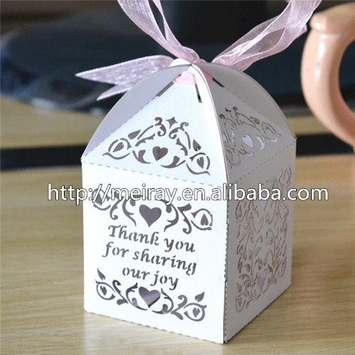 Amazing Wedding Cake Bo For Guests Thank You Gift Laser Cut Return In Bags Wring Supplies From Home Garden On