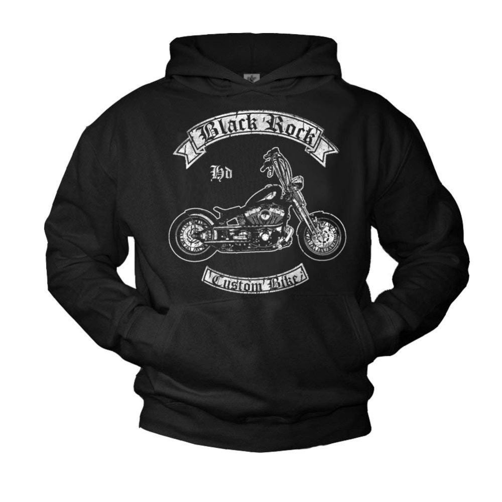 Biker Men's Hoodie Custom Chopper Sweatshirt