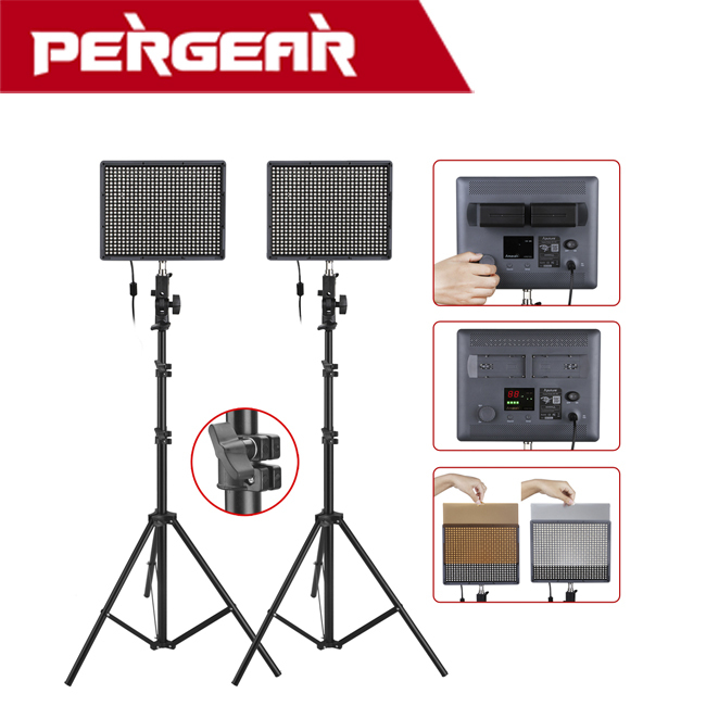 все цены на 2set/lot Aputure Amaran HR672S High CRI95+ 672pcs LED Spotlight Video Light + Wireless Remote Control+2M Light Stands
