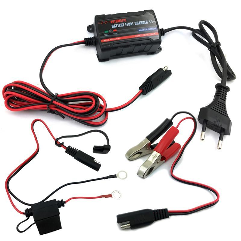 6V 12V Intelligent Fully Automatic Battery Float Charger Maintainer with EU Plug