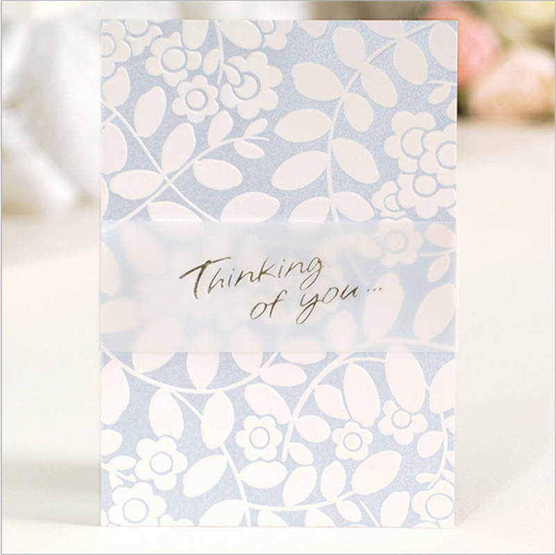 DoreenBeads Paper Cards Thank You Message Flower Leaves Birthday ...