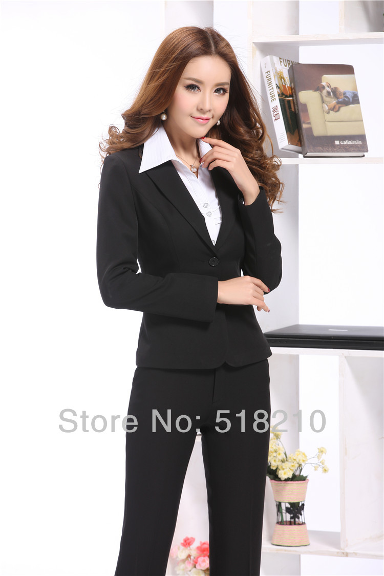 Black Pant Suit Womens - Go Suits