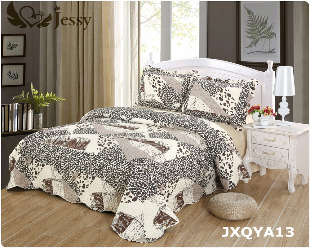 online get cheap antique chic bedding aliexpresscom  alibaba group - jessy home us local delivery patchwork quilt set antique chic quiltedpatchwork throw leopard bedding set queen king pcsset