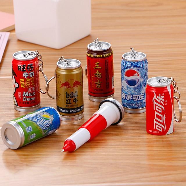 36 個クリエイティブ缶ボールペンかわいい学生カップキーホルダーテレスコピック飲料缶ボールペンのペン卸売