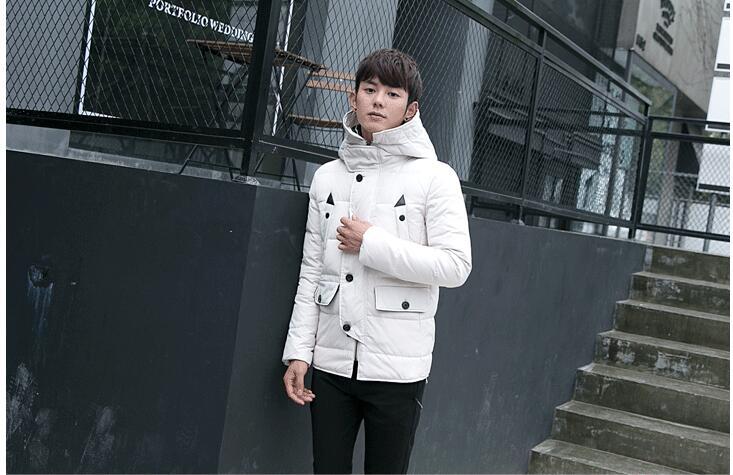 2017 High quality men winter Down jacket fashion hooded coat slim long jacket warm coat Sell like hot cakes style