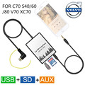 USB SD AUX car MP3 Adapte CD change for Volvo HU-series C70 S40/60/80 V70 XC70 Interface