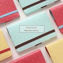 Harphia Agenda de Macaron, cuaderno rellenable, planificador de puntos A5 A6, carpeta organizadora de cinturón de Filofax