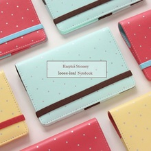 Harphia Macaron Agenda Nachfüllbare Notebook Dot Planer A5 A6 Nette Mädchen Süße Filofax Gürtel Organizer Binder