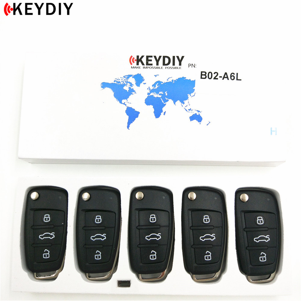 KEYDIY 5pcs New KD900 B Series Remote Control KD B02 A6L Car Key for KD900 Key