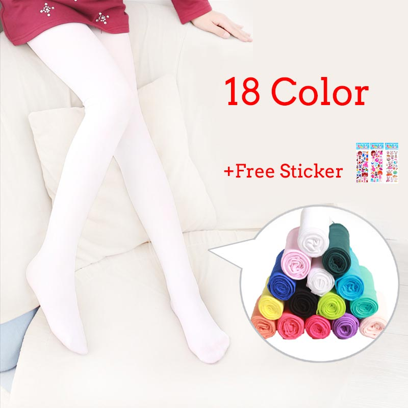 Tights for Girls A Thin Pantyhose Baby Velvet Kids Tights Children Solid Ballet Dance Baby Stockings Autumn 0-12Y WZ-CZX31 cotton baby girl tights pantyhose toddler tights for girls autumn solid color bow baby stockings