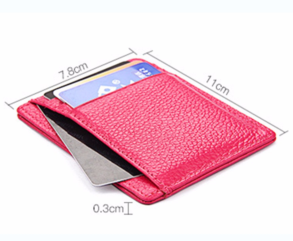 RFID Anti-Theft Brush Unisex Genuine Leather Card Wallet