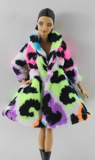 Image 5 - 15 Type High Quality Fashion Handmade Clothes Dresses Grows Outfit Flannel coat for Barbie Doll dress for girls best gift-in Dolls Accessories from Toys & Hobbies