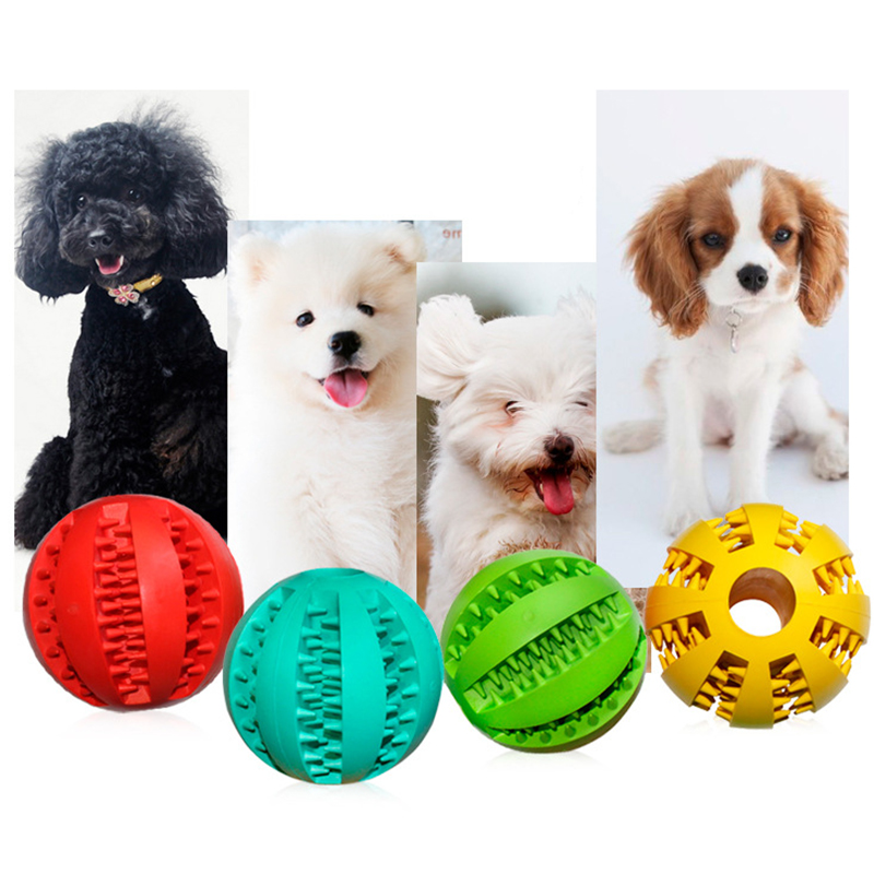 OnnPnnQ Rubber Pet Dog Cat Toy Ball Chew Treat Holder Tooth Cleaning Ball Food Dog Puppy Ball Training Interactive Pet Supplies5