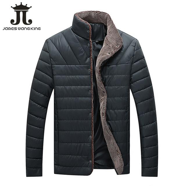 Cheap New 2018 winter jacket men solid thicker Parkas fashion Stand collar keep warm jackets and coats jaqueta masculina 5XL XP866