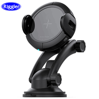 Riggler Infrared Sensor Car Charger 15W Fast Wireless Charging Holder Air Vent Suction Mount Stand for iphone 8 8 Plus iphone X