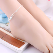 Luxury Brand Women anklet 925 Unique Silver Charm Anklet for Women Bracelets & Bangles Jewelry 2017