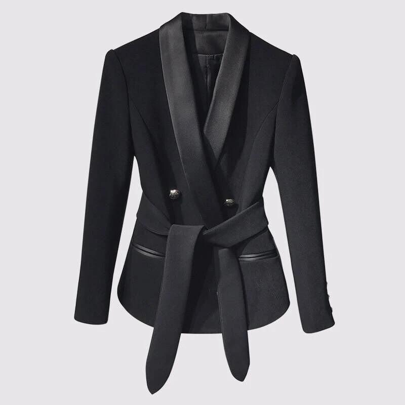 Restringir Aislar mercenario  Mujeres Blazers y chaquetas de diseño Original, moda Otoño Invierno 2018,  botones de Metal con doble botonadura, chaqueta fina para mujer|Chaquetas|  - AliExpress