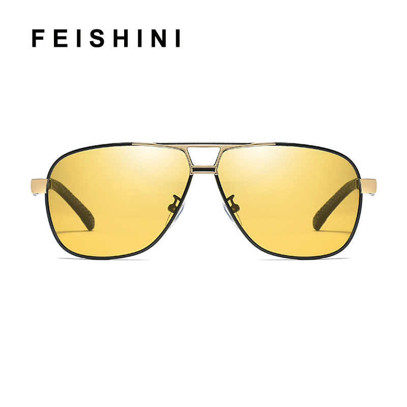 a4137c3b4f Quality Day Night Vision Goggles Driver Eyeglasses Polarized Sunglasses Men  Yellow Car Driving Glasses Photochromic Outdoors