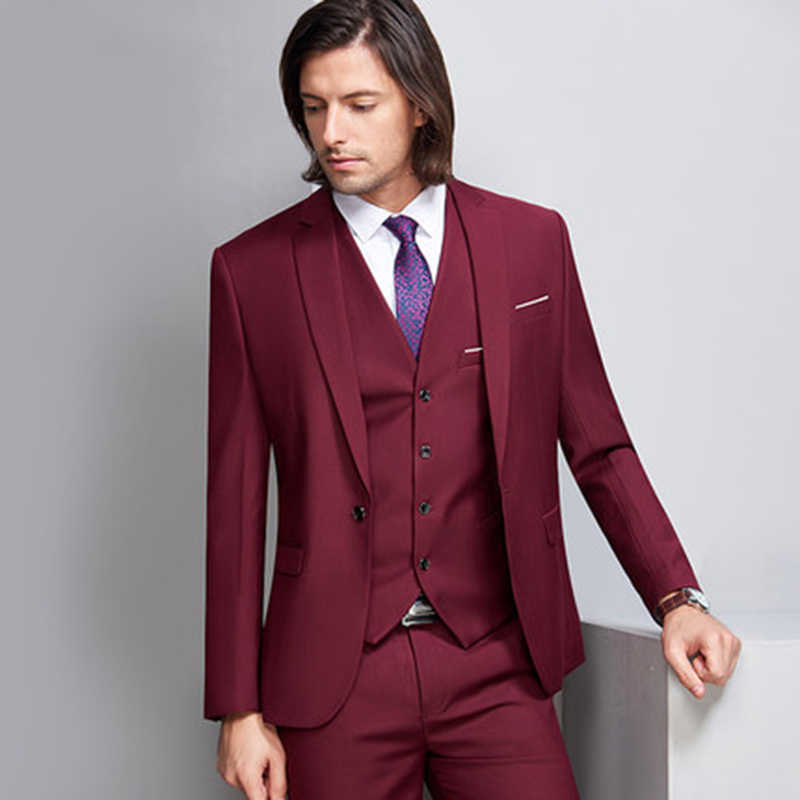 Hot Sale Fashion Men Suit Groomsman Suits Wedding Suit Formal Occasion Mens Suits Slim 3 Pieces Sets Jacket Pants Vest Wedding Suit Suit Slimsuit Wedding Aliexpress