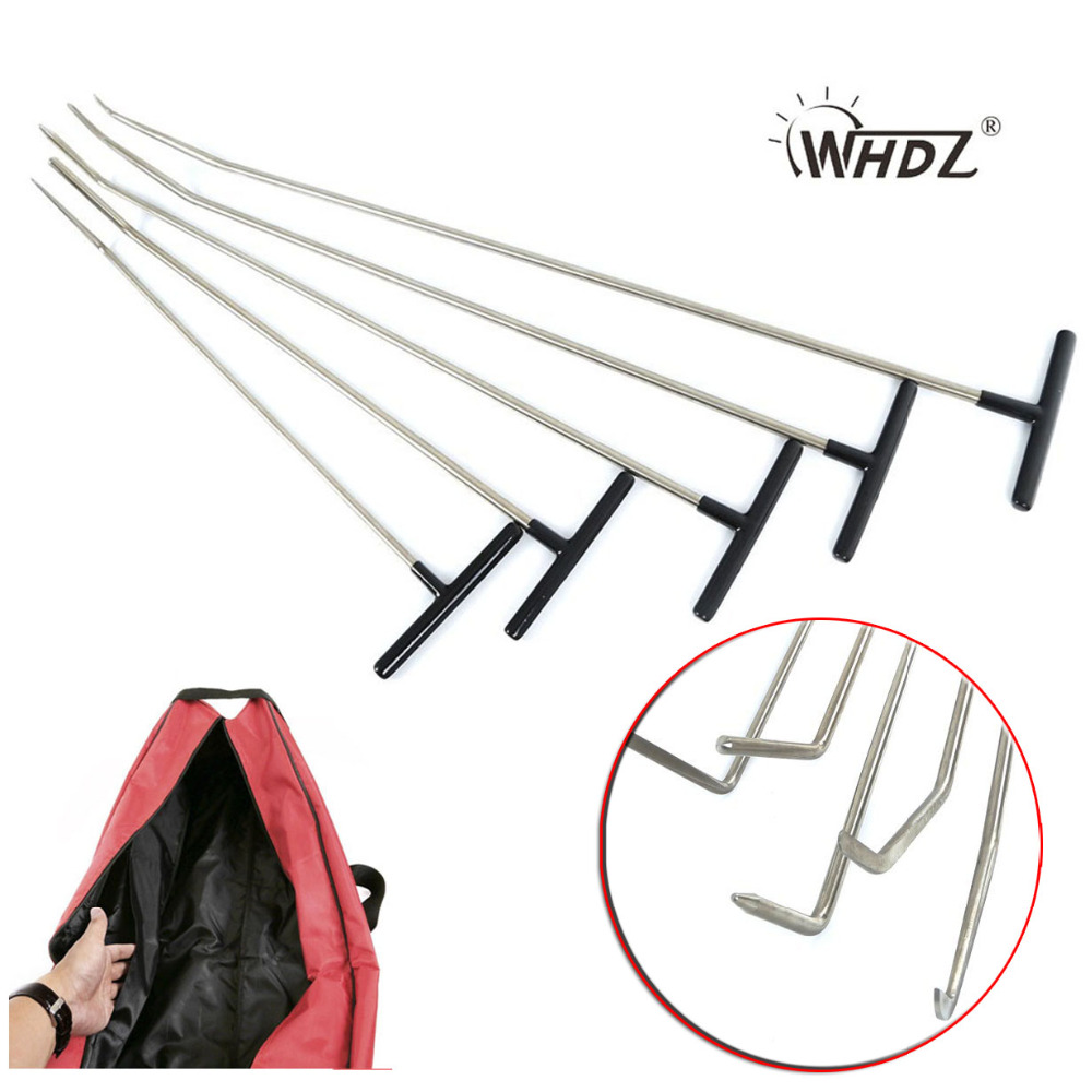 WHDZ Auto Parts Repair Set Paintless Dent Repair Tools Hand tools Rods Car Dent Removal pdr tools paintless dent repair цена