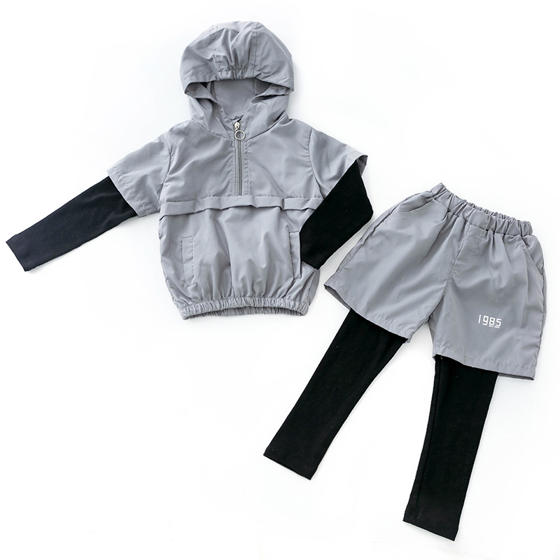 Boys clothes spring and autumn 2019 new stitching baby suit long sleeved shirt pants student 3 12 years children 39 s clothing in Clothing Sets from Mother amp Kids