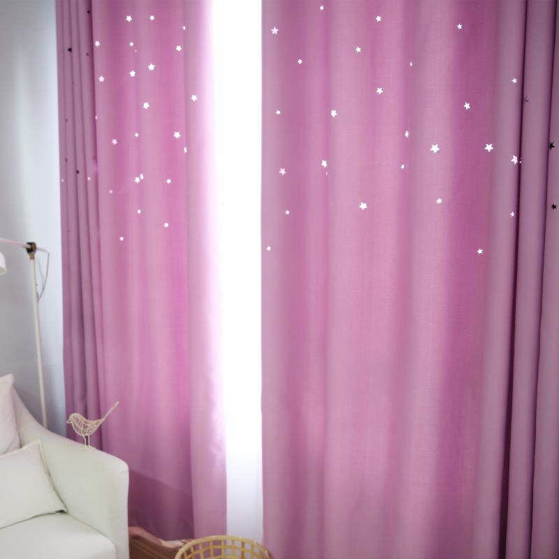 Custom Made Fashion American Country Curtain Star Hollow Out Black ...