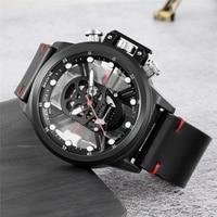 Skone Fashion Luminous Skull Watch Hollow Unique Design Luxury Male Quartz Wrist Watch Men Military Watches relogio masculino