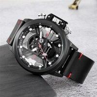 Skone moda luminosa crânio relógio oco design único luxo masculino quartzo relógio de pulso masculino relógios militares relogio masculino Relógios de quartzo     -