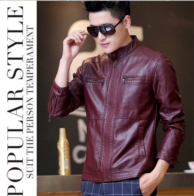 22e6085c5c5 ... JACKETS MAN Source · Fashion men s leather clothing outerwear 2018  spring motorcycle