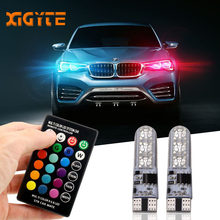 2 Pieces T10 W5W LED Car Lights LED Bulbs RGB With Remote Control 194 168 501 Strobe Led Lamp Reading Lights White Red Amber 12V(China)
