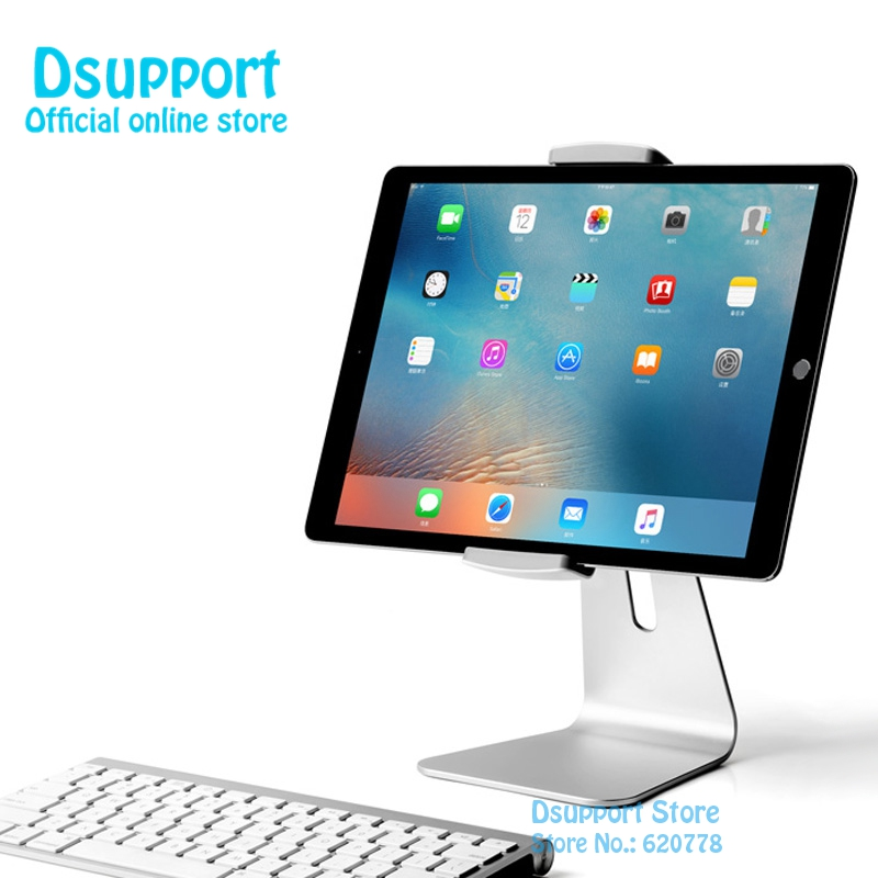 Supporto per tablet Dsupport New AP-7S in alluminio per tablet con morsetto per dispositivo da 7 pollici a 13 pollici, supporto universale per pad di marca flessibile