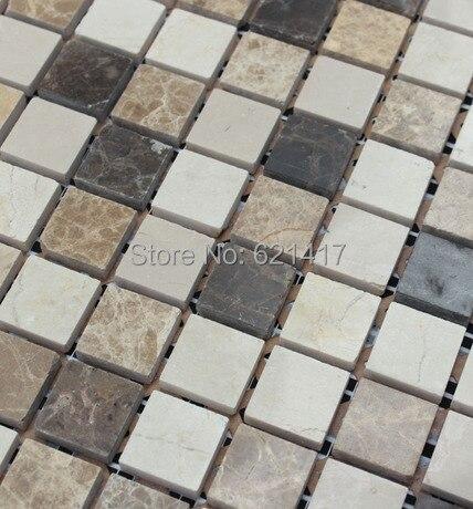 Mixed Color Mosaic, Home Improvement Marble Stone Mosaic <font><b>tiles</b></font>,Retro Style Mosaic <font><b>Tiles</b></font>, Floor Mosaic, Free Shipping, wall <font><b>tiles</b></font>