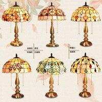 Модные Средиземноморский shell исследование настольная лампа спальня прикроватный настольная лампа
