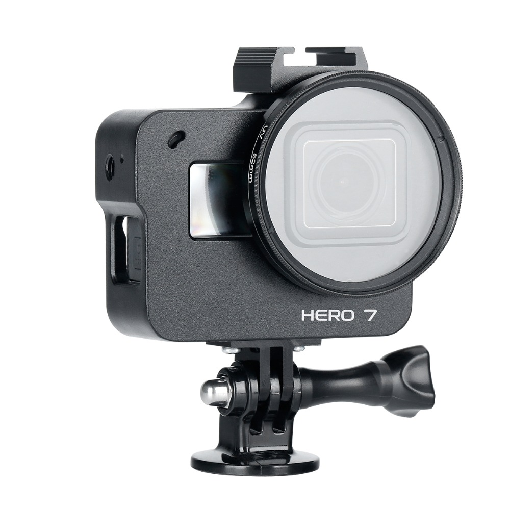 Camera-Protection-Frame-for-Gopro-7-Aluminum-Alloy-Metal-Cage-Action-Camera-Accessories-with-Hot-Shoe