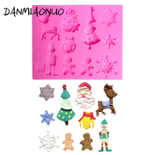 Mini Christmas Tree Deer Cake Silicone 3d Molds Decorating Tools Candy Stencils For Cakes Form Soap