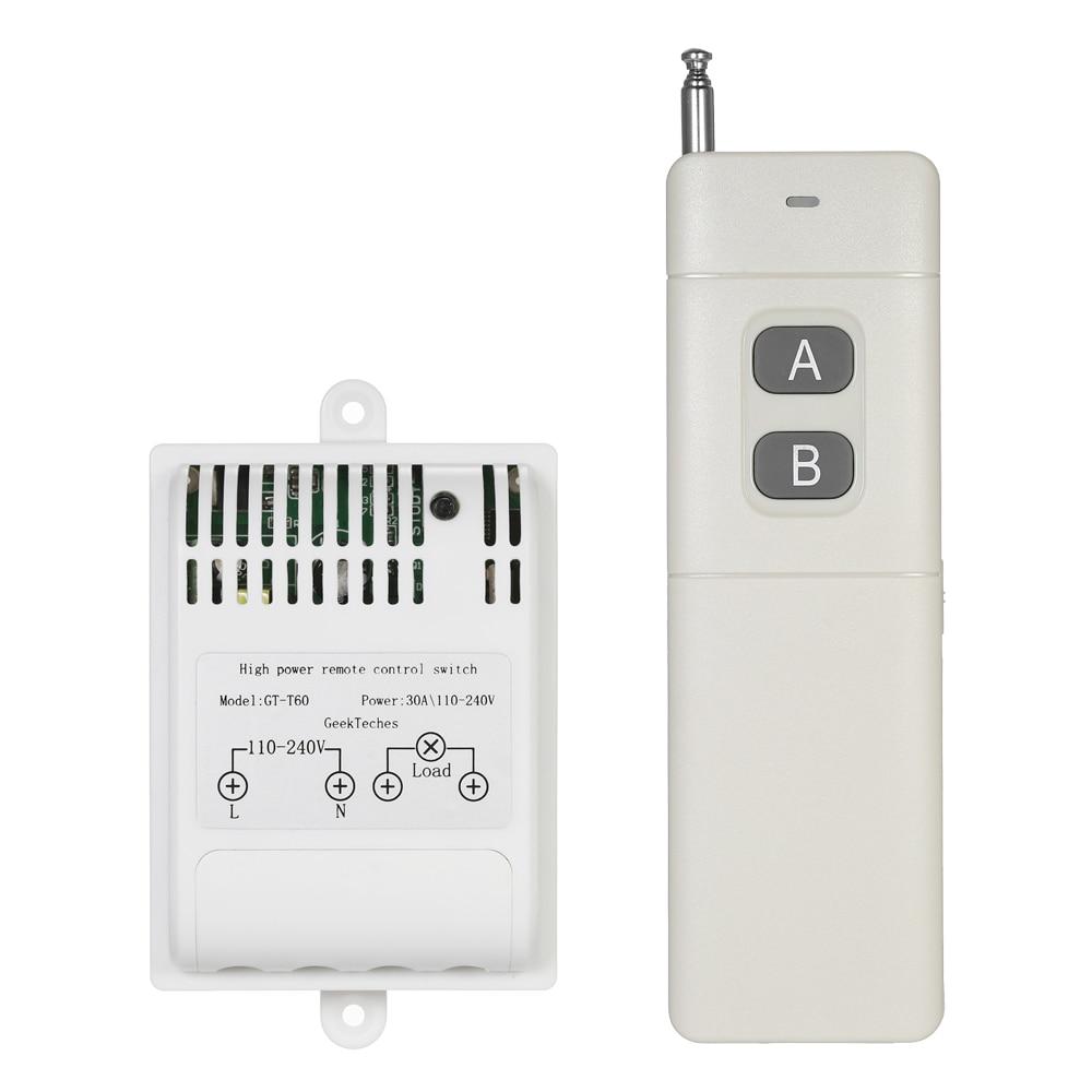 AC110 240V 4000m 433MHz Wireless RF Remote Control Switch Smart ...