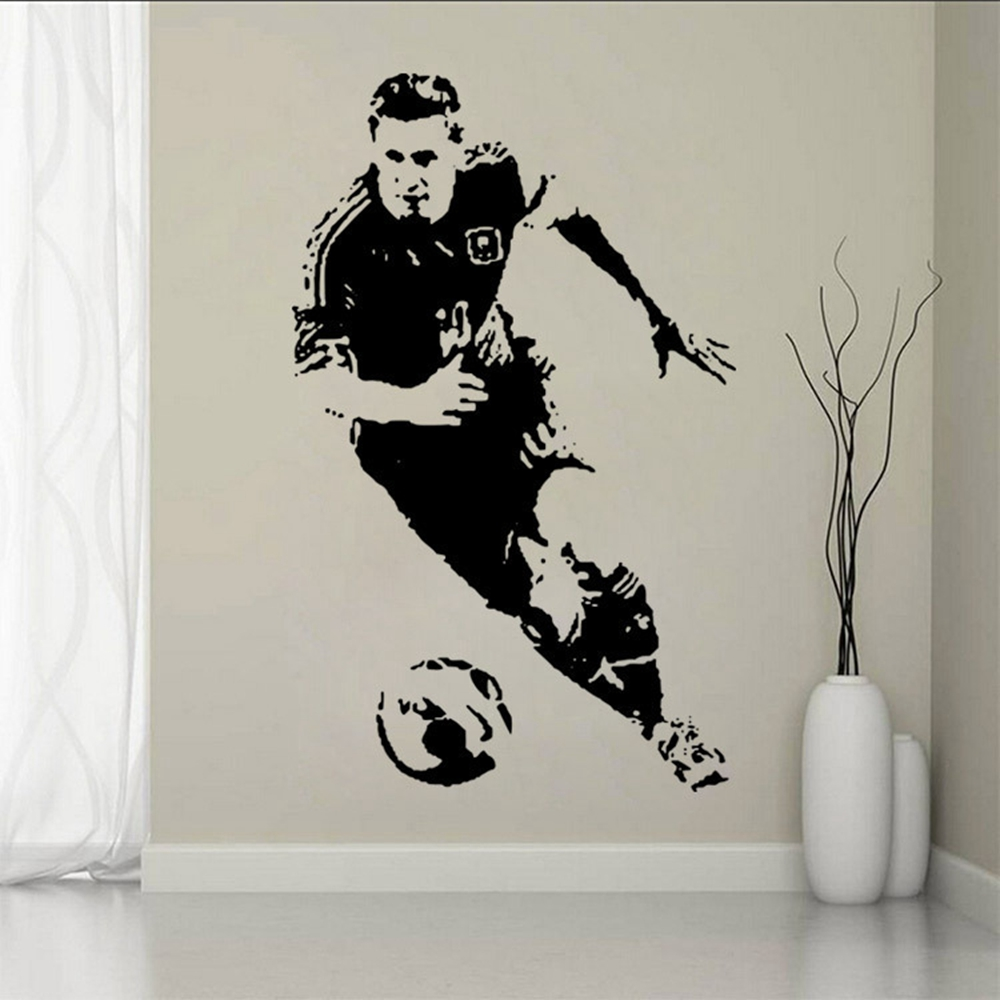 Football celebrity art wall decal sticker children room home football celebrity art wall decal sticker children room home furnishing decorative wall stickers personalized name number in wall stickers from home amipublicfo Image collections
